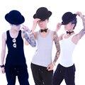 1 Pc Les Lésbicas Coletes Casuais Malha Respirável Longo Peito Binder Trans Sem Ataduras Tamanho S-2XL