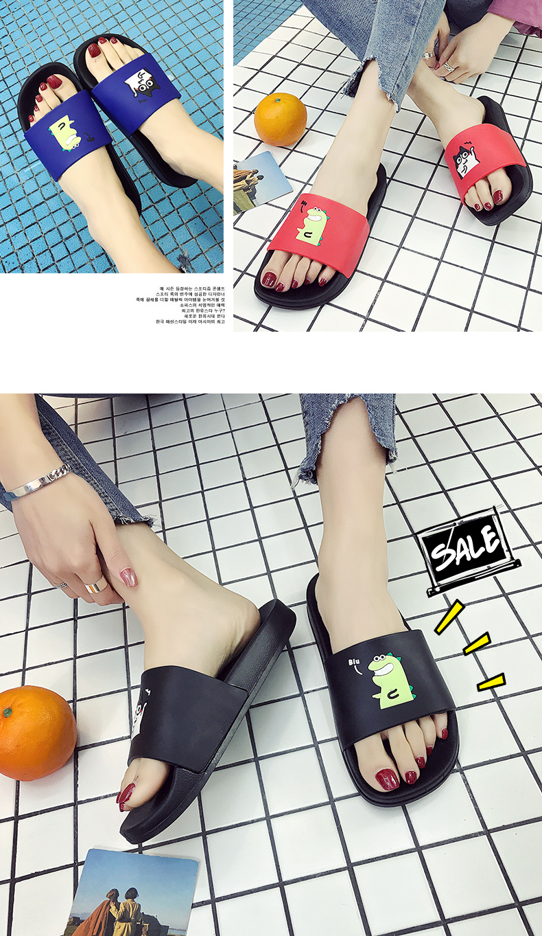 WHOHOLL Man Home Slippers Summer Sandals 2019 New Anti-skid Outside Wear Indoor Home Bathroom Bath Couple Cold Slippers Male 20