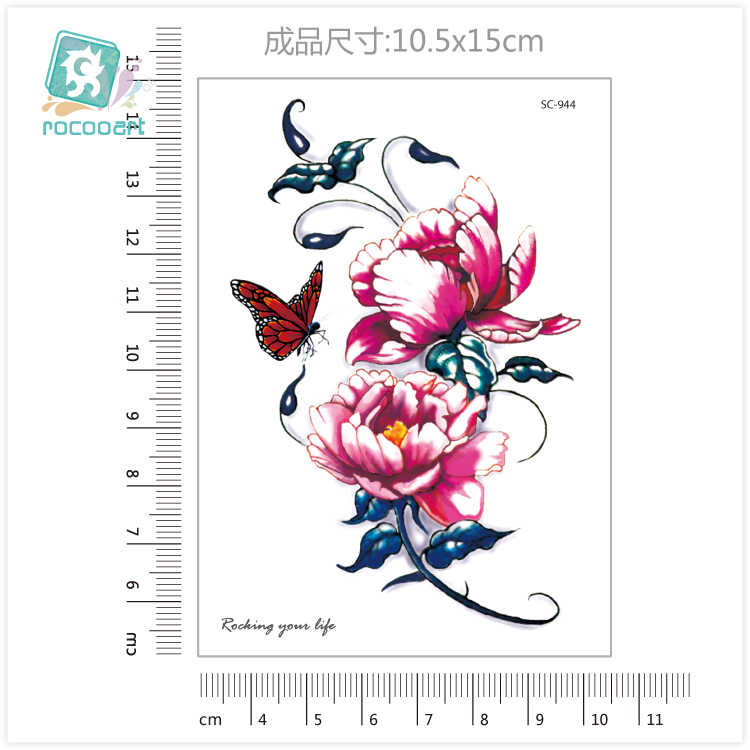 New Arrvial 2019 Fashional Lotus Flower Tattoo Designs Butterfly Body  Temporary Fake Tatoo Sticker Taty On Arm Chest Collarbone