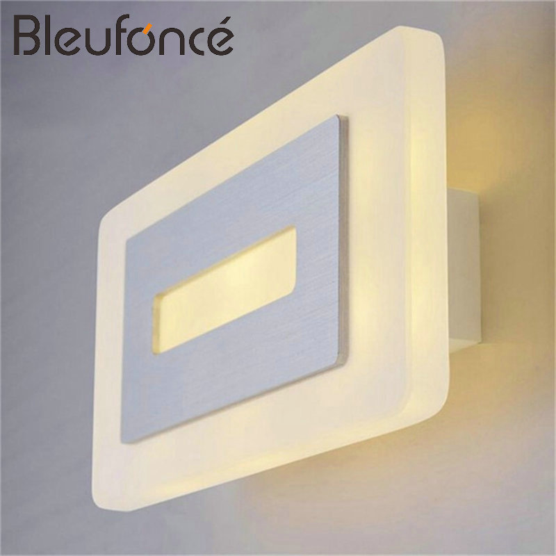 Indoor Wall lamp Modern Simple Home Decoration Wall light lighting Aluminum Acrylic LED Wall Sconce 110V 220V Wall Lamps BL143 3 narrow beam indoor wall effect light led architectural facade lighting 3 emission led wall sconce ac90 260v input decoration