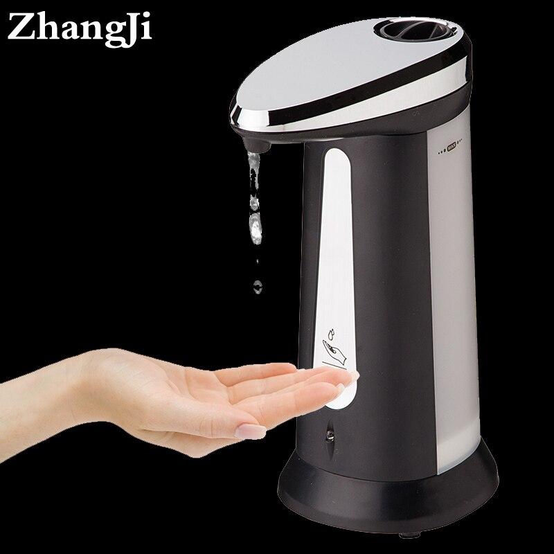 ZhangJi dispensador de jabón líquido 400 ml Electroplated Sensor automático dispensador inteligente Touchless cocina accesorios de baño