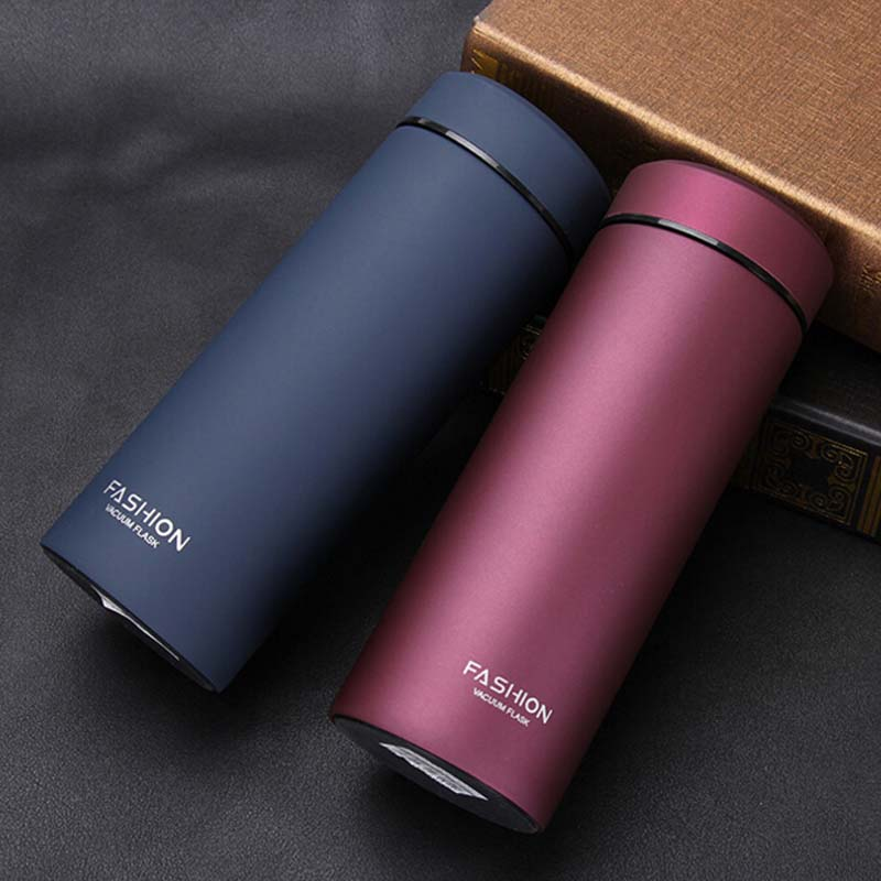 500ML 350ML Stainless Steel Insulated Thermos Vacuum Flasks Water Bottle Thermo Cup Straight Cup Tea Coffe
