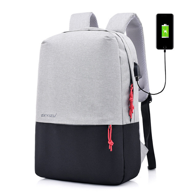5dfe842b04 2018 new version double shoulder bag male fashion trend college student  schoolbag computer charge bag