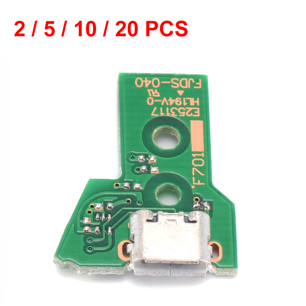 2 / 5 / 10 / 20 PCS USB Charging Port Charger Socket Board JDM-040 Replacement Part for PS4 Pro 5rd