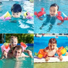 Cute Flamingo Baby Kids Cute Swimming Arm Rings Crab Inflatable Arm Bands Floaties Cartoon Pineapple Girls Boys Swim Accessories(China)