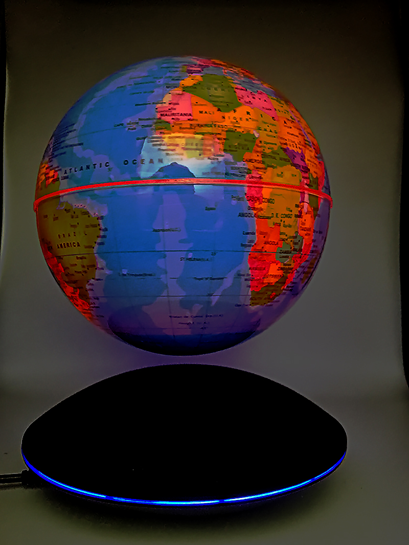 Creative LED Magnetic levitation globe Night Lights table lamp bedroom Children's gifts World Map baby light night lamp for kid - 4