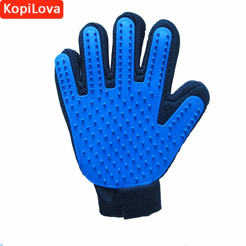 KopiLova 1 pcs Pet Silicone Glove Cleaning Comb Brush Glove For Dog Cat Grooming Cleaning Free Shipping free shipping new version bs 2400 2200w low noise per dryer pet blower with eu plug dog cat variable speed dryer pet grooming