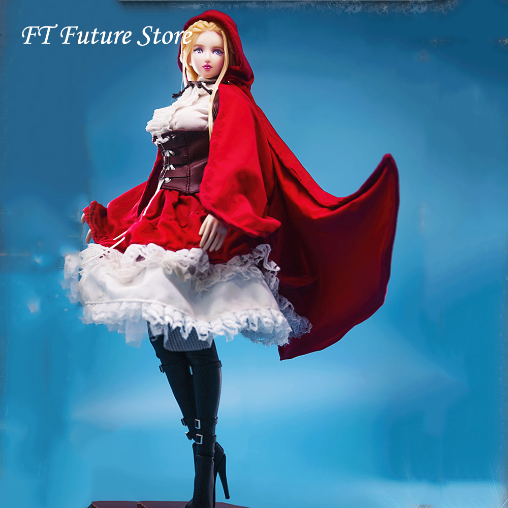 1:6 <font><b>Sexy</b></font> Female Figure Clothes Accessory Little Red Riding Hood Gothic Lolita Clothing Set for 12'' Detachable S10D S22A Body image