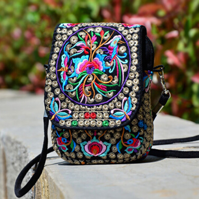 Aliexpress.com  Buy Girlsu0026#39; Mini Cute Floral Embroidered Canvas Crossbody Bag Easy Take ...