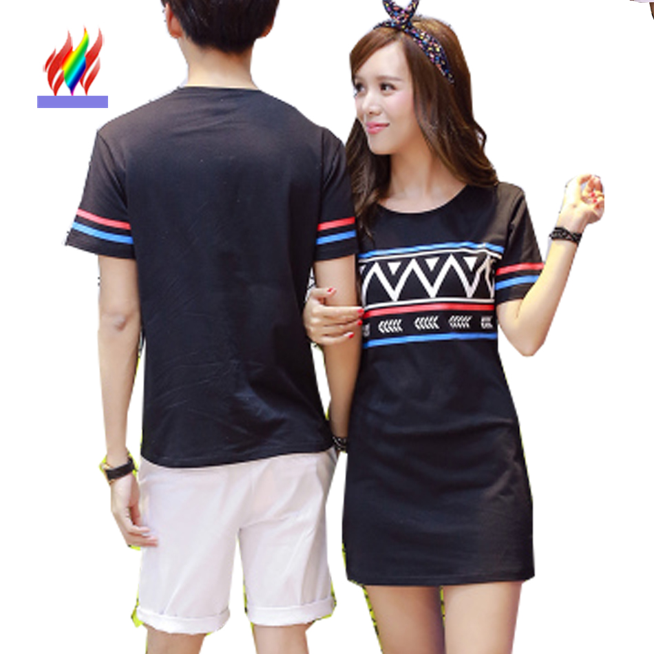 Shirt design for couples - New Designer Tops Cute Sweet For Lovers Couples Clothes Summer Casual Printed T Shirt Black
