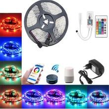 RGB WIFI LED Strip 5M 10M DC12V 2835 SMD Smart Flexible Tape Light Wireless Control TV Light Magic Home APP Google Home Alexa