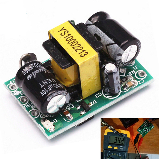 AC-DC 90-240V To 3.1-3.5V Step Down Isolated Switching Power Supply Module Voltage Buck Converter 3.3V 600mA