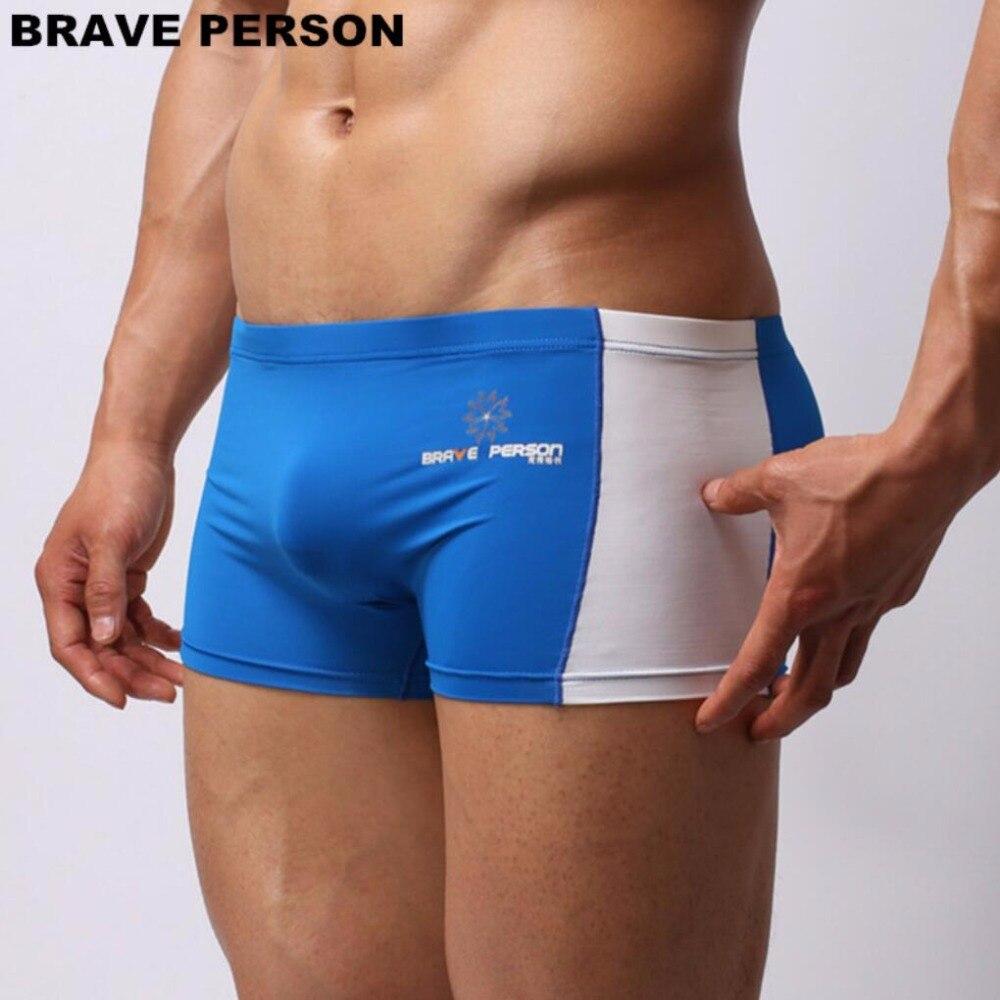 BRAVE PERSON Mens Boxer Shorts Splice Design Soft Men Boxers Thin Bodysuit Male Underpants Elastic High Quality Underwear B1005