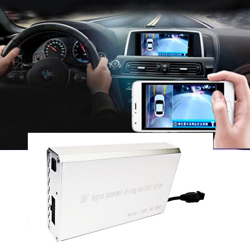 Новый 4 К UHD 360 панорамный вождения приложение WI FI ночное видение Surround View Системы Bird View панорама g сенсор 24 часов защиты