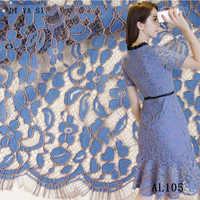 beautiful black / white eyelashes lace fabric, wedding decoration. diy craft table cloth width 150 cm DYS106