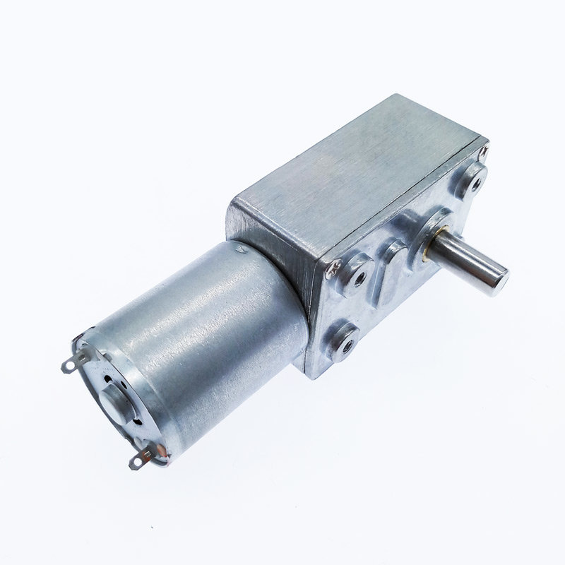 ZGY370 DC12V Reduction <font><b>Motor</b></font> Worm Turbo Geared <font><b>Motor</b></font> DC 12V <font><b>1RPM</b></font> 2RPM-100RPM 200RPM Electric Gearbox Reducer image