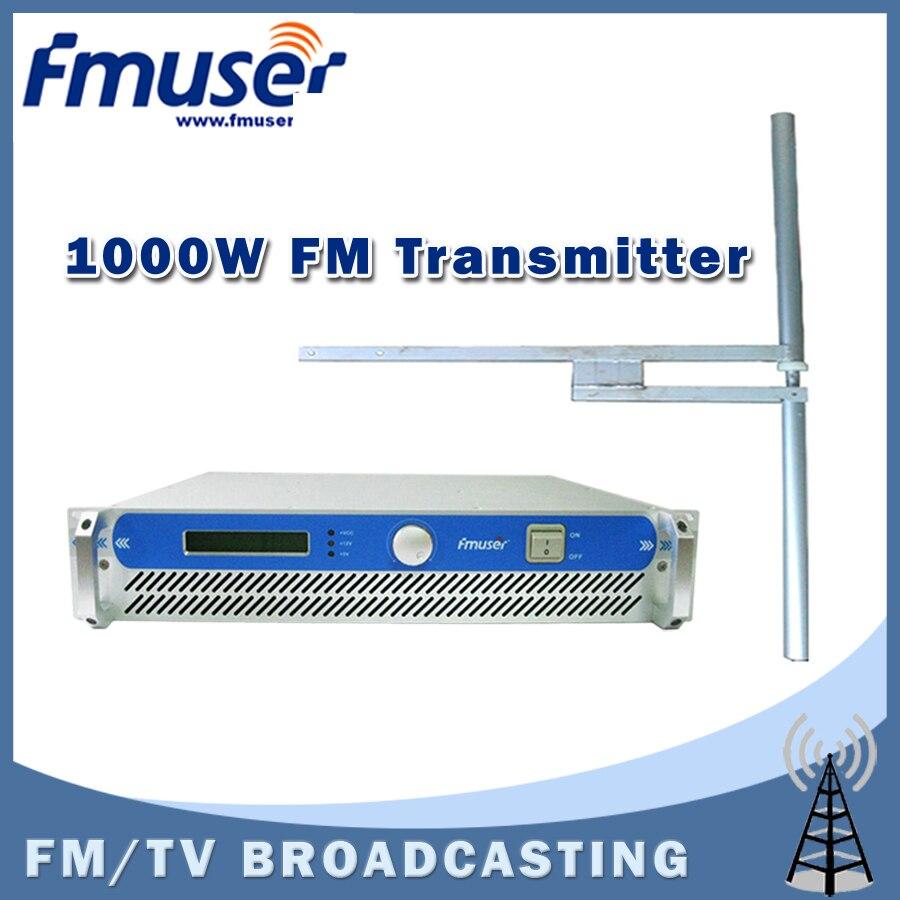 Google Home Mini Power Cable >> Free shipping FSN-1000 1000W Power Adjustable FM Transmitter for FM Radio Broadcasting + FU-DV2 ...