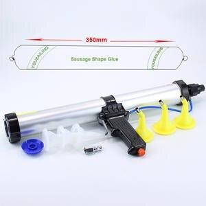 15 inches 600ml Sausage Pneumatic Caulking Gun Glass Glue Gun Air Rubber Gun Caulk Applicator Tool