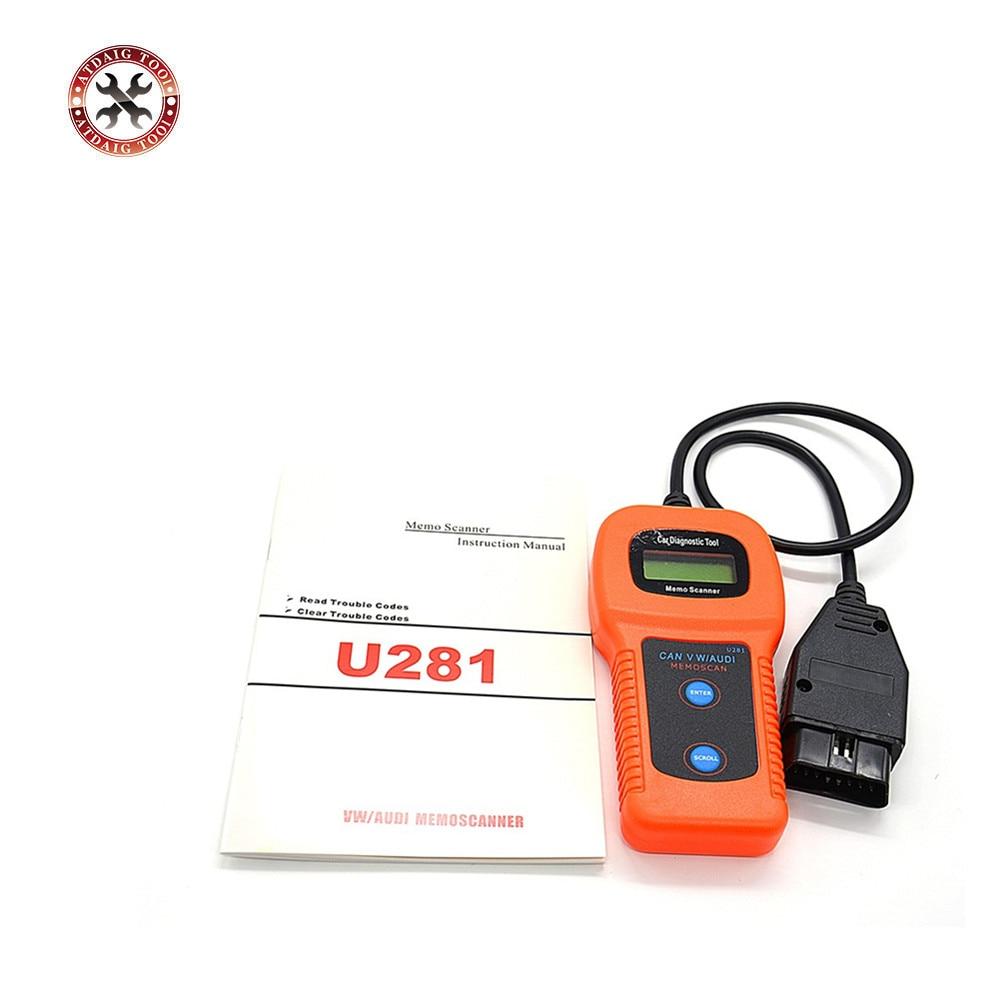 U281 OBD2 OBDII CAN BUS Car Diagnostic Scan Tool Fault Code Reader for Vw Audi