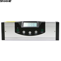 Digital Angle Finder Protractor Level Tool with LCD Screen, Aluminum Angle Level Spirit Level With Magnetic Base in Bottom