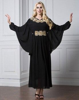 XL-7XL plus size fashion muslim adult abaya robes Dubai Vestidos Muslim dress Turkish islamic bat sleeve abaya Islamic Clothing