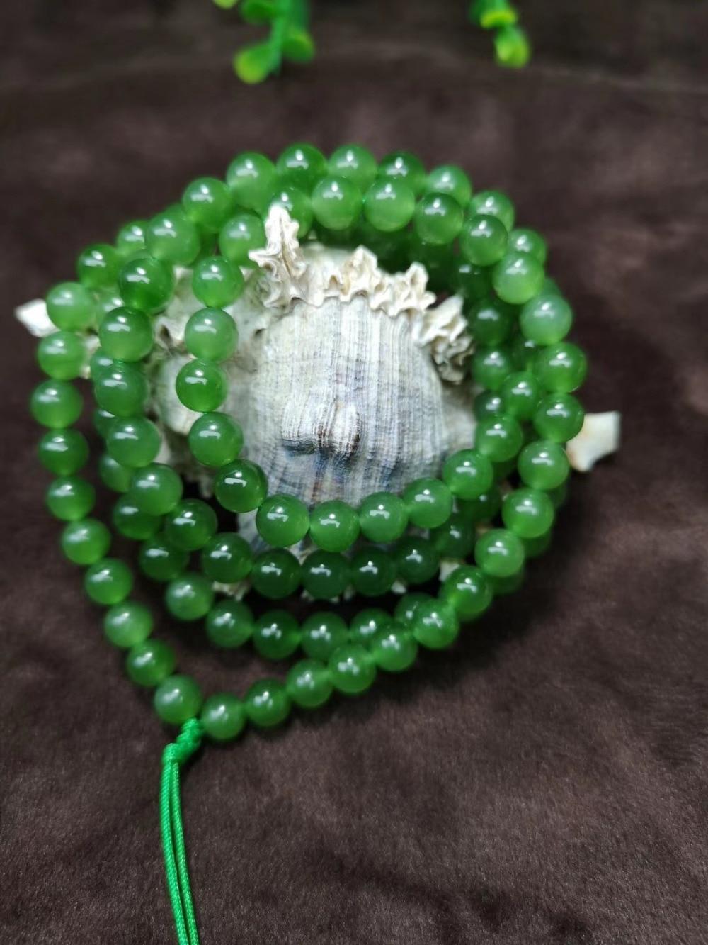 Хе, Тиан Ю Подлинная Россия yu зеленый 108 буддийские молитвенные бусины ожерелье браслет/