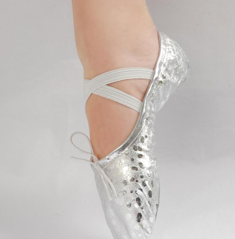 2020 New gold silver Girls Ballet Shoes