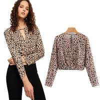 a52a6816b5 ZTK Women Blouse 2019 New Spring V Neck Leopard Printed Sexy Long Sleeve  Shirt Europe And. ZTK Kobiety Bluzka 2019 Nowy ...