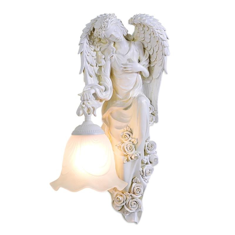 BDBQBL Ангел Портативный бра Европа оригинальность настенный светильник высокой Температура сопротивление фойе Wandlamp гравировкой Спальня све...