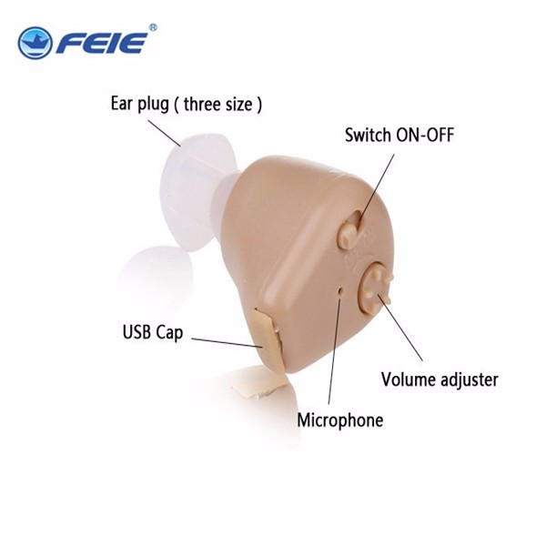 Small Mini S-216 Rechargeable  In Ear Hearing Aid Adjustable Best Sound Amplifier Tone Mini Pocket Hearing Aids care free ship hearing quality mini adjustable tone in ear hearing aids sound amplifier for hearing impaired drop shipping s 212