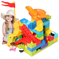 Newest Marble Race Run Maze Ball Track Building Blocks Plastic Funnel Slide Big Size Bricks Compatible Legoingly Duploe Block