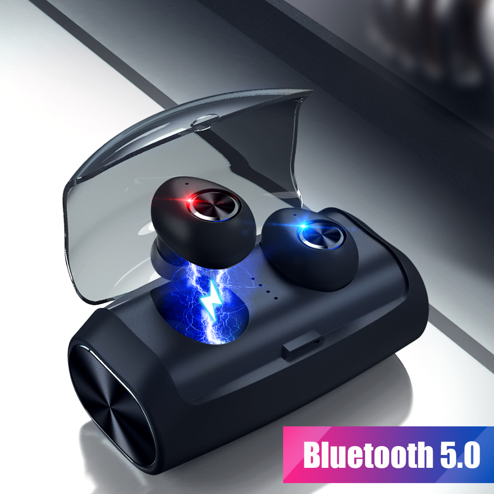 $27.99 | TWS Mini Bluetooth 5.0 Earphone True Wireless Stereo Earbuds Headset With Microphone Charging BOX For iPhone Xiaomi Huawei