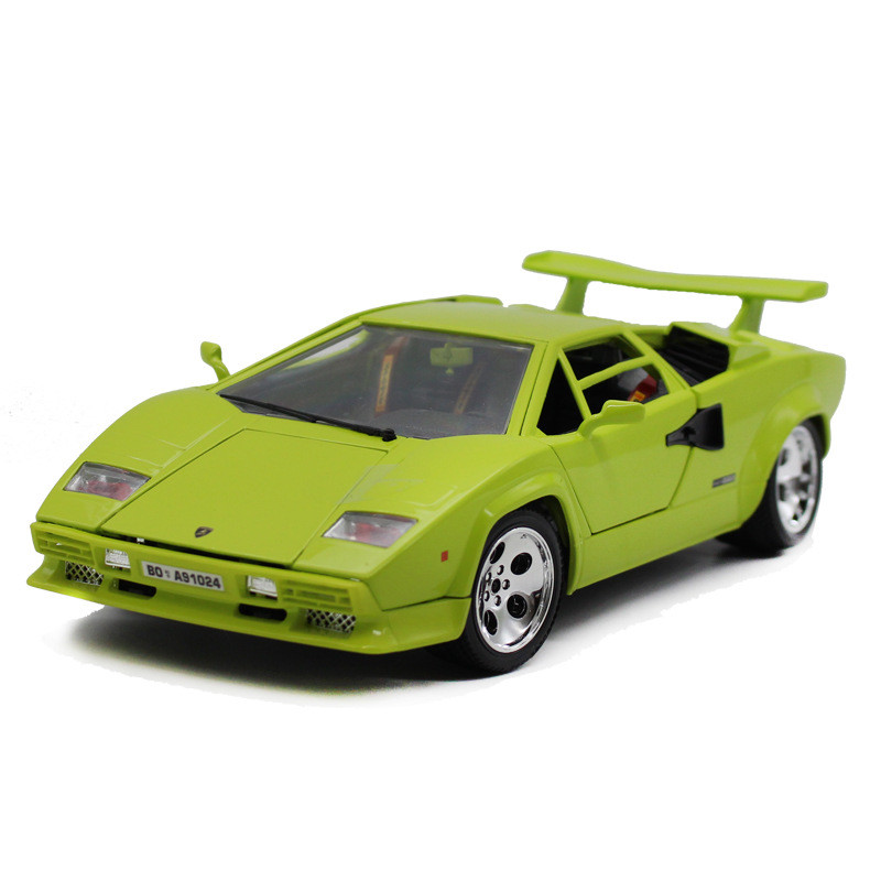 Hot sale Classical Bburago 1:18 Countach 5000 LP5000S Green supercar model diecast Alloy Model sports car toy vehicles bburago 1 18 458 alloy supercar model favorites model