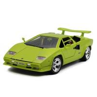 Vente chaude Classique Bburago 1:18 Countach 5000 LP5000S Vert supercar modèle En Alliage moulé sous pression Modèle De voiture de sport jouet véhicules