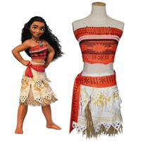 Free Shipping Moana Cosplay Costume Sexy Princess Costume Halloween Suit Movie Moana Costume Adult Women Party