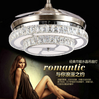 FashionablLED 42inch 108cm The dimming control K9 Crystal Ceiling Fan Modern/Contemporary Living LED Fan Lights Bedroo 110 240V