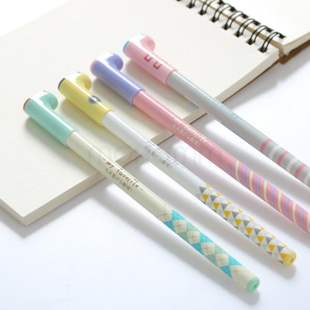 0.5mm Preto Coreano Japonês Kawaii Bonito Bota Doce Cor Gel Canetas De Tinta Escrita Escritório Material Escolar Para As Crianças Meninas artigos de papelaria