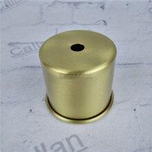 M10 D65mmX55mm Малый размер латунного материала гнездо крышка медное основание чашки качество E27 лампа крышка абажур освещение крепление конус