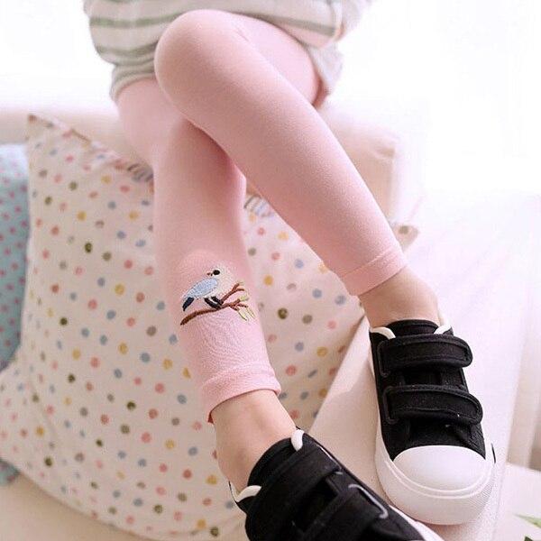 2-7Y Toddler Baby Girls Kid Skinny Pants Girls Leggings Cute Bird Print Stretchy Warm Leggings empire skinny leggings