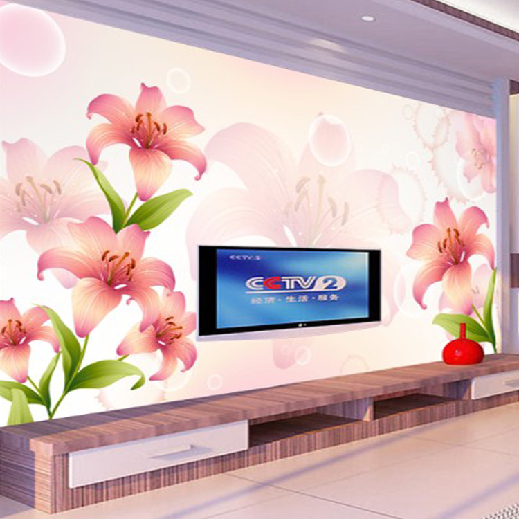 PVC Wallpaper Flower Design Wall Covering Textured Embossed Photo Wallpaper  Roll Romantic For Living Room( Part 67