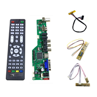 LA MV56 A Universal LCD TV Controller Driver Board V56 TV VGA AV HDMI USB 1LAMP
