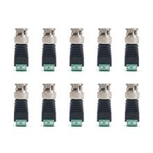 10 шт. аксессуары для безопасности прямая система без сварки цинковый сплав адаптер видео разъем камеры наблюдения Q9 BNC мужской