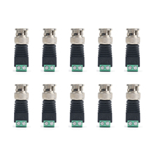 10pcs Security Accessories Straight System No Welding Zinc Alloy Adapter Video Connector Plug Camera Surveillance Q9 BNC Male