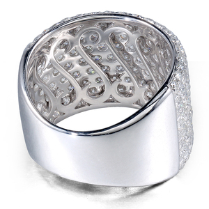 Image 3 - Transgems 3.3CTW Carat Moissanite Luxury Band Lab Grown Moissanite Diamond Solid 14k 585 White Gold For Women
