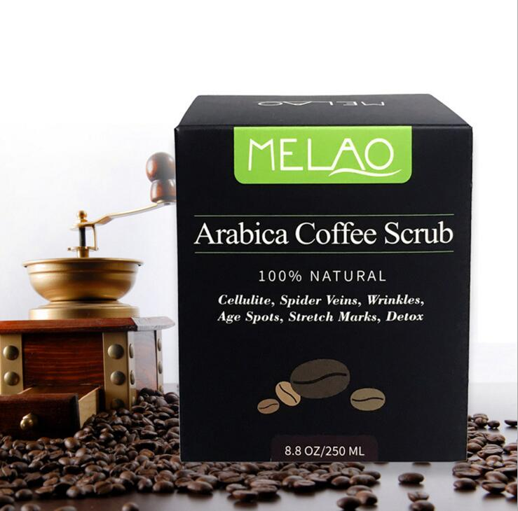 Coffee Body Scrub Cream, Natural Oil Body Scrub Exfoliating Whitening Moisture Reducing Cellulite For Skin Care