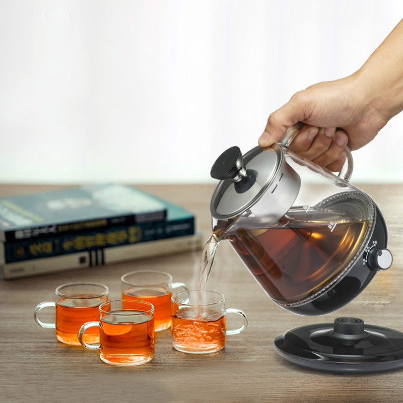 NEW Tea kettle small capacity home health pot glass automatic steam electric anhua black tea цена