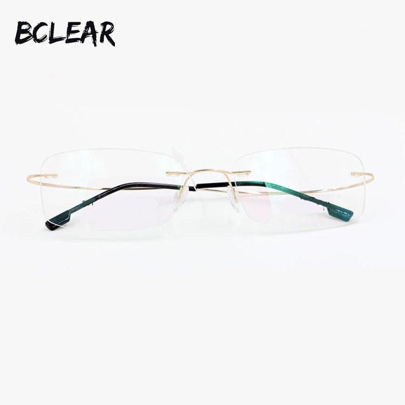 BCLEAR mode Chaude et légèreté mémoire titane sans monture optique cadre  flexible prescription spectacle lunettes pour hommes et femmes 6877bc5f0b9