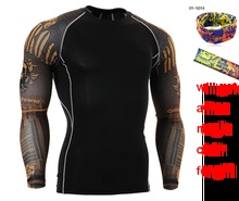 Men Training T Shirts Compression tops man Rashguard Fitness Long Sleeves Shirts Base Layer Skin Tight
