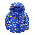 Children Parkas Cute Cartoon Animals Printed Kids Boy Girl Down Jackets Spring Winter Warm Hoodies Clothing