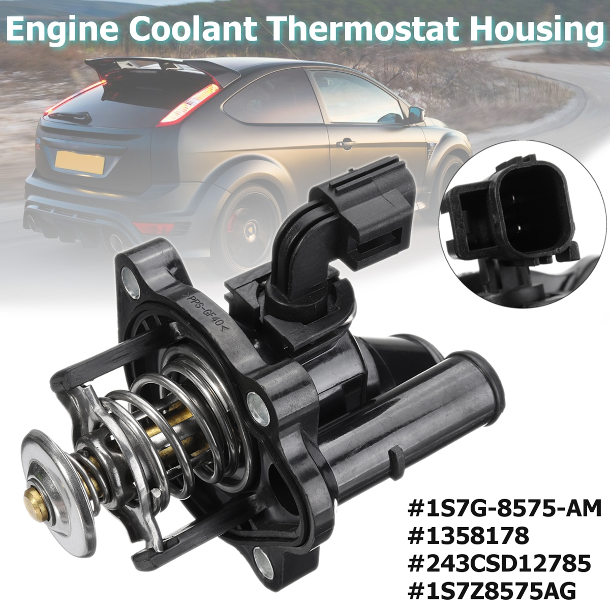 Car Engine Coolant Thermostat With Housing for Mazda/Ford/Mondeo/Focus  Ranger MK III B2300 2000 2005 #1358178-in Thermostats & Parts from  Automobiles ...